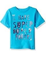 The Children's Place Baby Toddler Boys' Fun Message Graphic T-Shirt