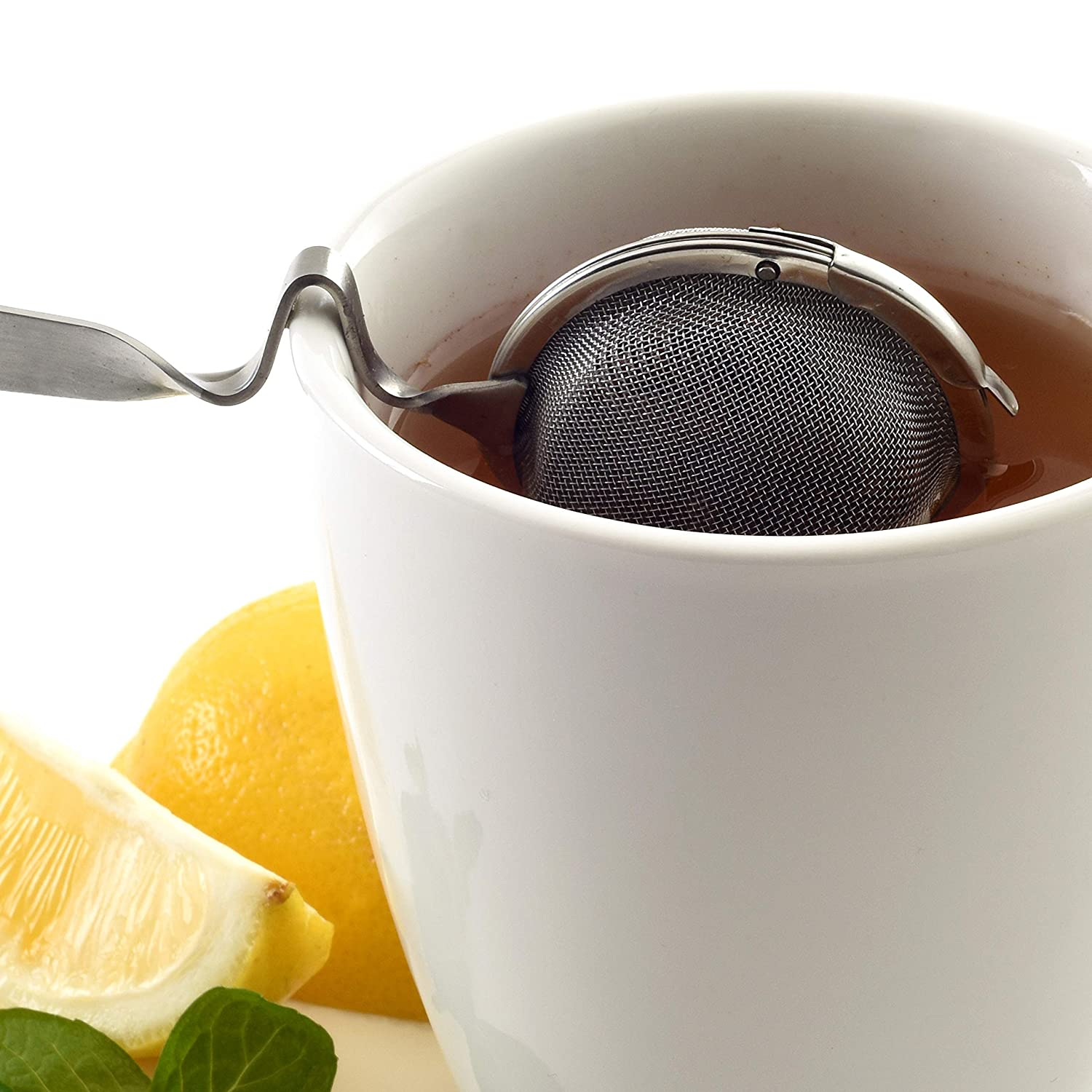 Norpro Mesh Tea Ball with Cup Rest Handle