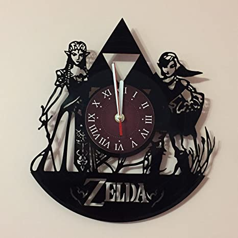 Amazon Com The Legend Of Zelda Wall Clock Get Unique Home Room Wall Decor Gift Ideas For Adults Teens Addicted Movie Unique Art Design Kitchen Dining