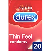 Durex Condoms Thin Feel, Pack of 20
