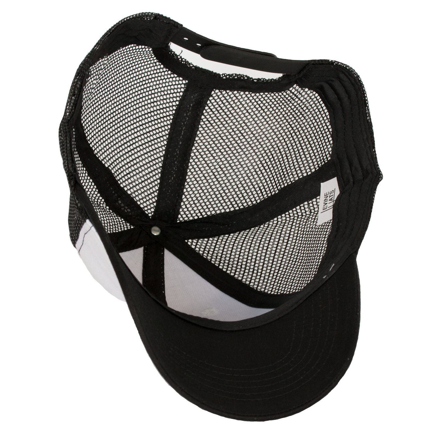 7c093af6b9d Amazon.com  Levine Hat Co Trucker Mesh Baseball Cap with Adjustable Snapback  (Black White Black)  Clothing