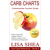 Carb Charts - Carbohydrate Counter Guide (Low Carb Reference Book 8)