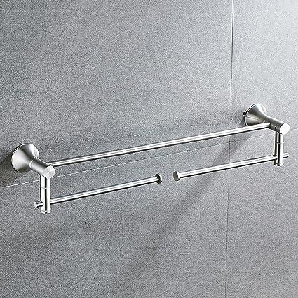 ZHAS Torre de Acero Inoxidable Colgador Barra de Toalla de baño Accesorios baño Toallero Giratorio Hardware