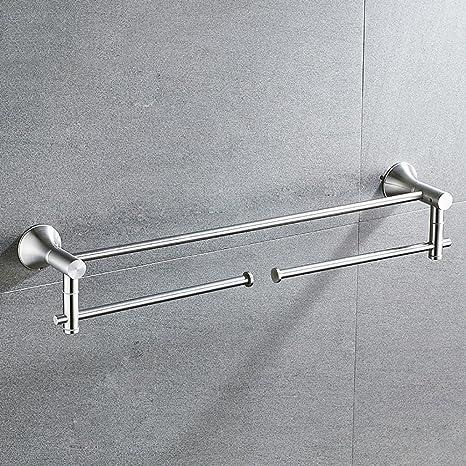 FACAIG Torre de Acero Inoxidable Colgador Barra de Toalla de baño Accesorios baño Toallero Giratorio Hardware