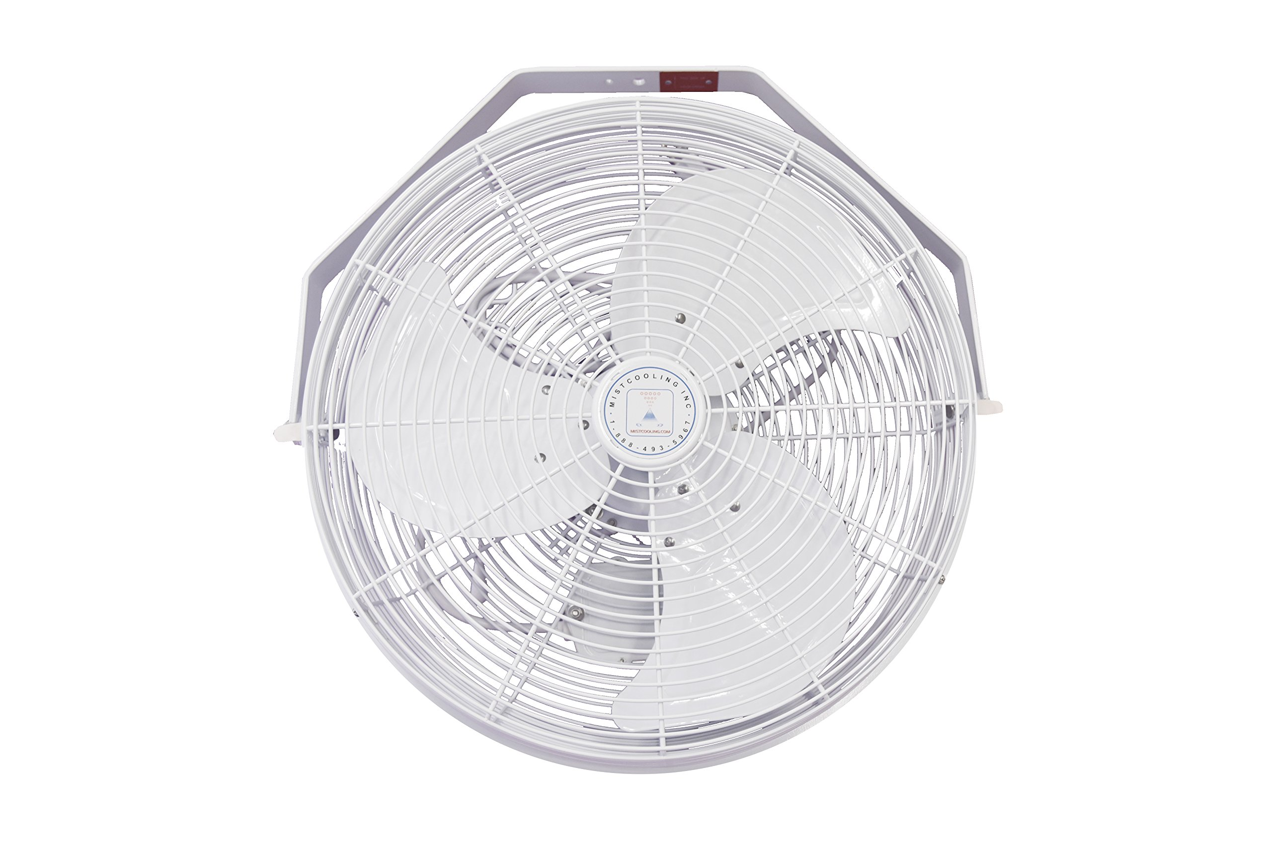 J and D POW18 - 18 Inch White fan for Indoor & Outdoor Wall; Ceiling Or Pole Mount Fan