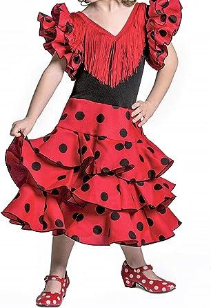 Anuka Vestido de niña para Danza Flamenco o sevillanas: Amazon.es: Ropa y accesorios