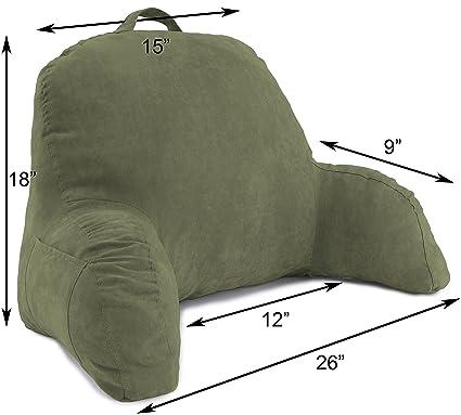Amazoncom Deluxe Comfort Microsuede Bed Rest Backrest Pillow