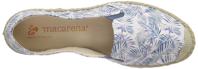 Macarena Damen Tropical Espadrilles Blau Blau Espadrilles (Azul) ce18da