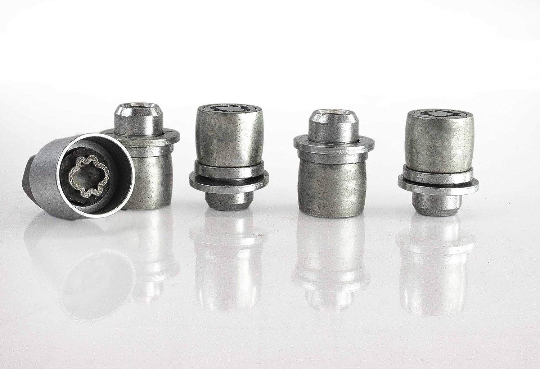 Citron C-Crosser Models 2007 To 2020 Heyner Germany Stil Block PRO Locking Wheel Nuts Removal Key M12x1.5 Set 4 Locks Thatcham Quality Assured Bolts 582//5