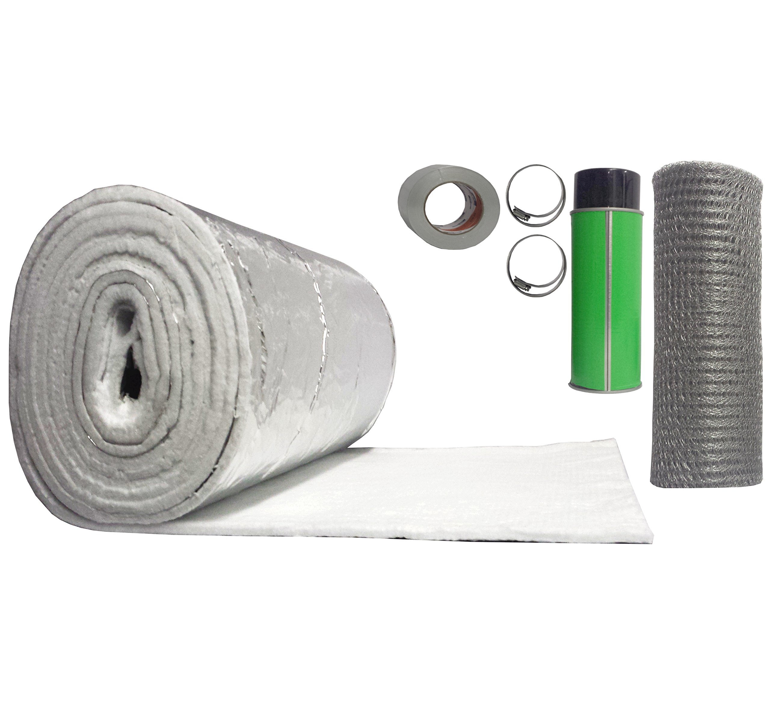 Rockford Chimney Supply Chimney Liner Insulation Blanket Kit, 3 to 6 Inch Diameter x 25 Feet by Rockford Chimney Supply