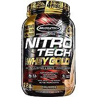 MuscleTech NitroTech 纯乳清蛋白粉,乳清分离物及乳清肽 2.2 Pound 2.2