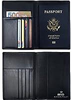 RFID Passport Holder, Leather RFID Blocking Passport Case Cover Holder