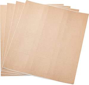 "AmazonBasics Square Labels for Laser & Inkjet Printers, 2"" x 2"",Kraft Brown Labels,300-Pack"