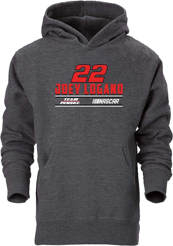 Ouray Sportswear NASCAR Penske Racing 90044-GRA-S-Logano Youth Go-to Hood Small Graphite