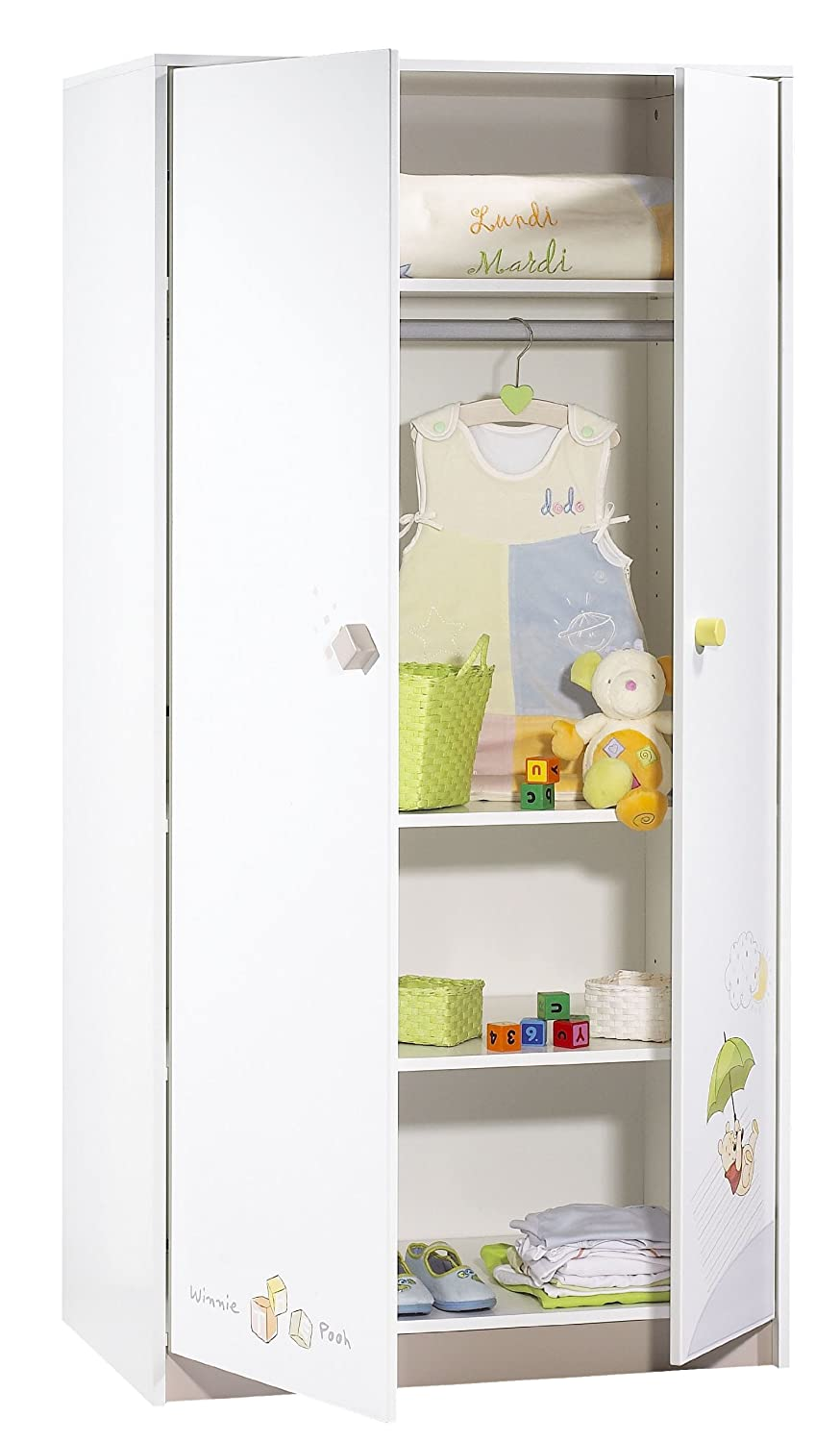 Cheap sauthon on line winnie discovery armoire portes for Chambre winnie sauthon