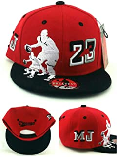 fe73d342f0ff74 GREATEST PRODUCTS Chicago New Greatest 23 Legend Jordan Bulls Red Black MJ  Dribbler Era Snapback Hat
