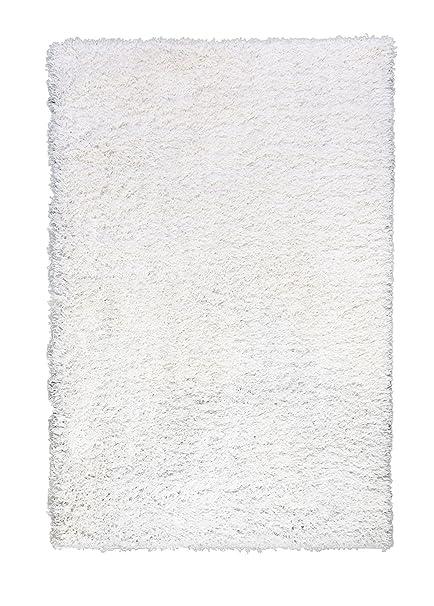 white shag rug. Super Area Rugs SHAG-01 Cozy Living Room Shag Rug, 5\u0027 X 8 White Rug