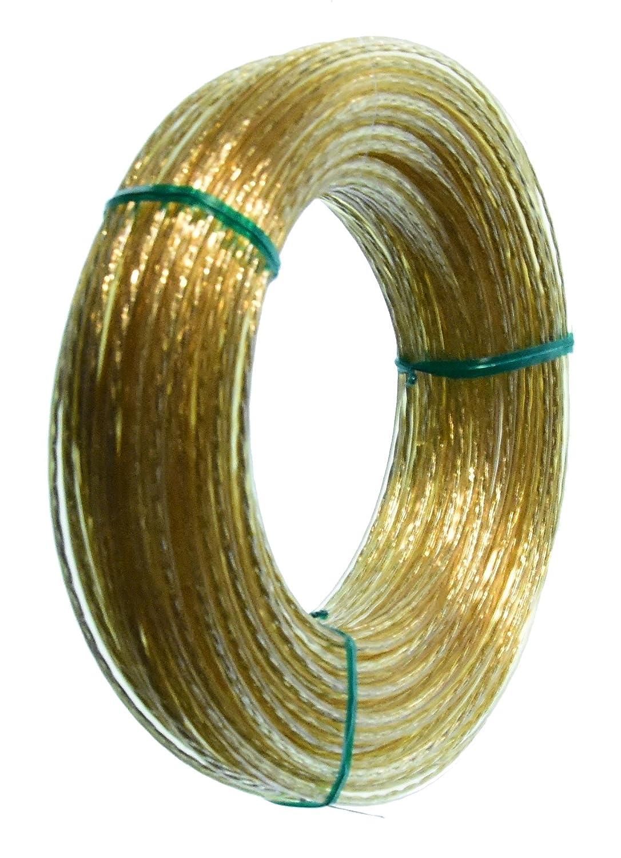 ''Hagspiel'', 30 m Kunststoff Wäscheleine im Ring mit Vollstahldrat Einlage nicht dehnbar reißfest, wetterbeständig abwaschbar