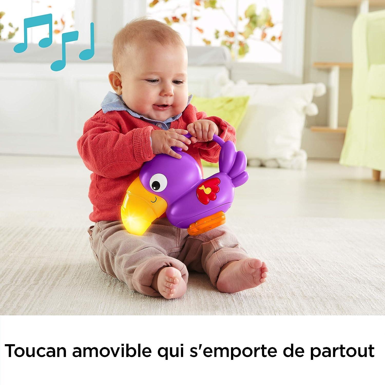 Fisher-Price Tapis Musical d/Éveil de la Jungle pour B/éb/é DFP08 d/ès la Naissance Musique et Lumi/ères Dansantes avec Plus de 10 Jouets et Activit/és