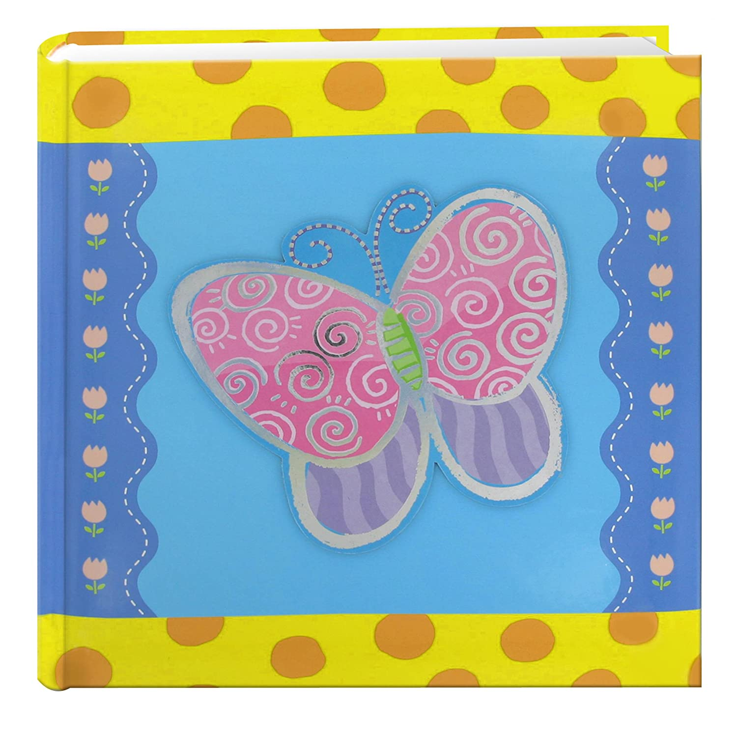 Pioneer Photo Albums 200-Pocket 3-D Butterfly Applique Cover Photo Album, 4 by 6-Inch DA-200/B