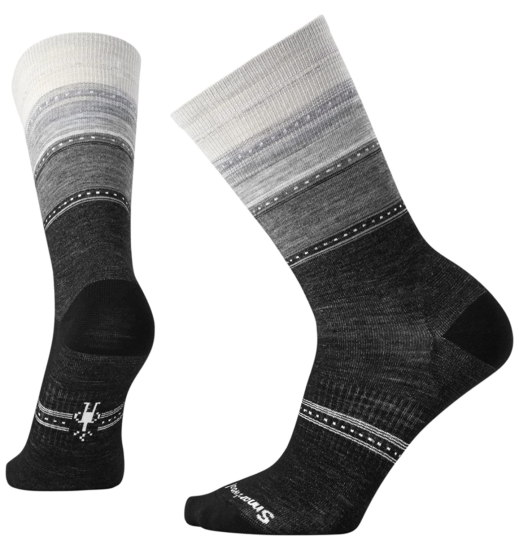SmartWool Sula-Calcetines para Mujer wesi Rayas, Color Charcoal Heather, tamaño S (EU 34-27)