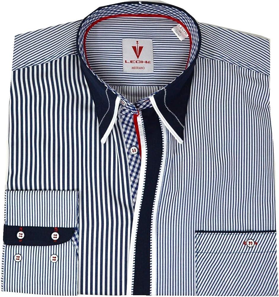 Camisa de diseño de rayas azules y blancas. Blanco M: Amazon.es: Ropa y accesorios