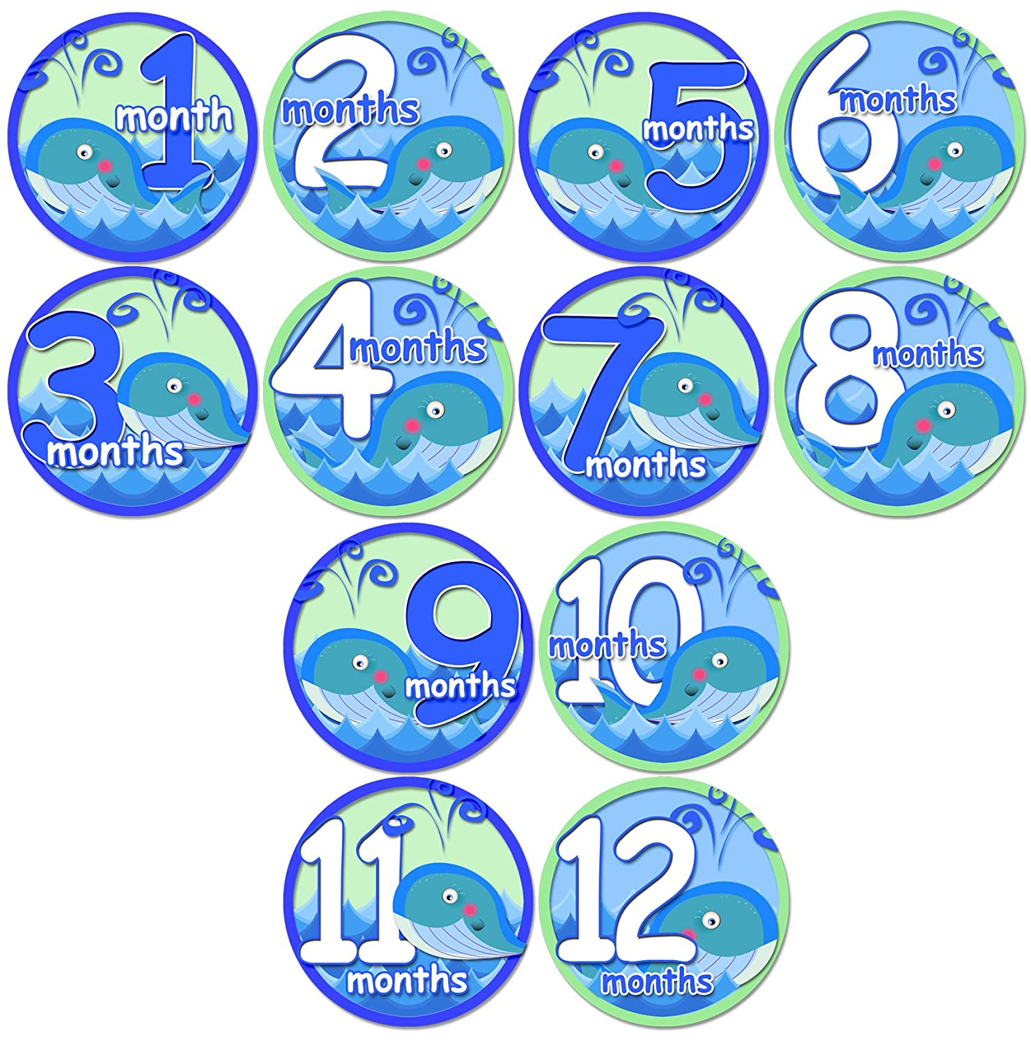 Amazon baby whales baby month onesie stickers baby shower gift amazon baby whales baby month onesie stickers baby shower gift photo shower stickers baby shower gift by onesiestickers baby keepsake products negle Image collections
