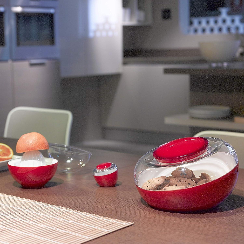 Omada Design Salz- oder Pfefferstreuer sp/ülmaschinenfest Stopfen mit Druckverschluss aus transparentem und farbigem Kunststoff Movida Line