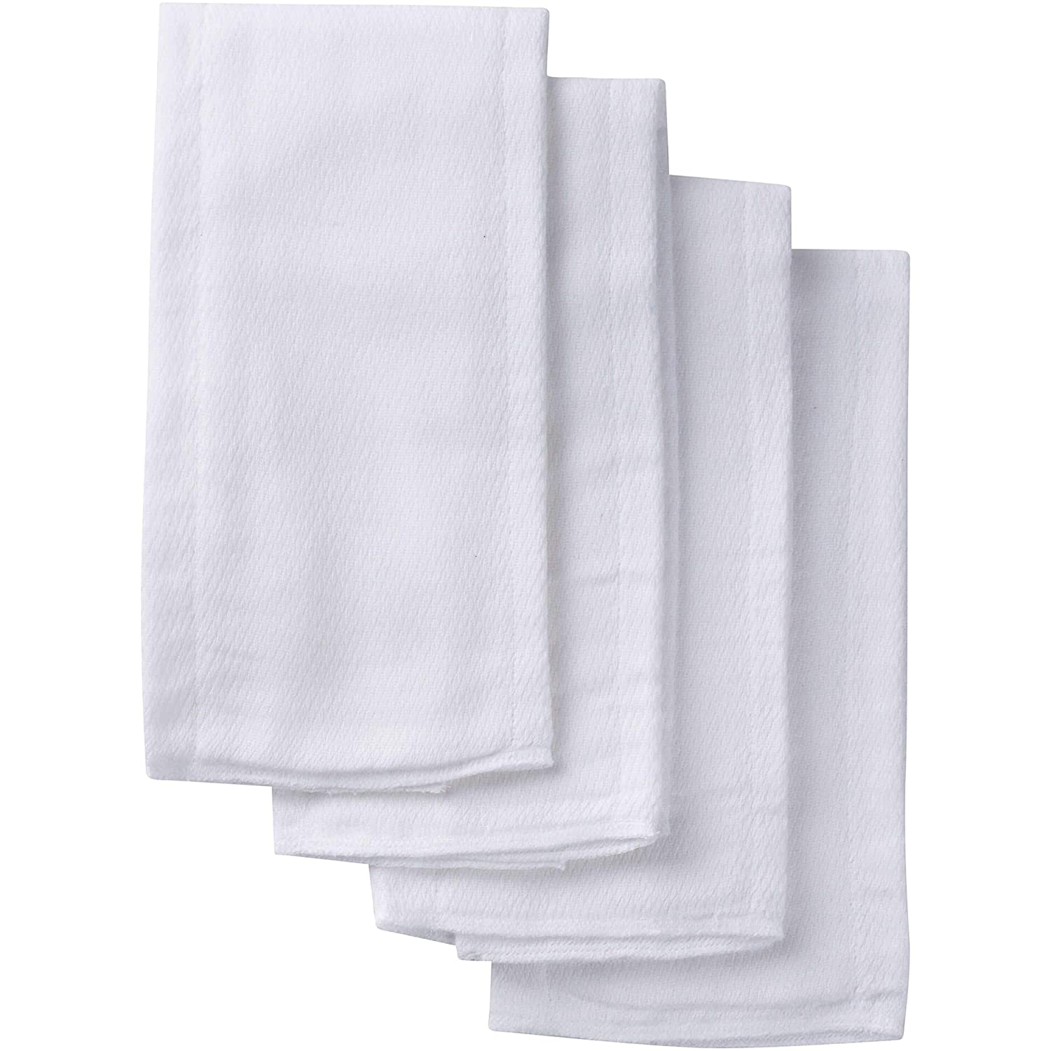 Gerber 10 Count Prefold Birdseye Diaper with Pad White