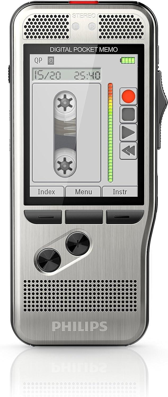 Philips Dpm7000 Digitales Diktiergerät Schiebeschalter 2 Mikrofone Stereo Farbdisplay Klassik Modus Lichtsensor Edelstahl Anthrazit Bürobedarf Schreibwaren
