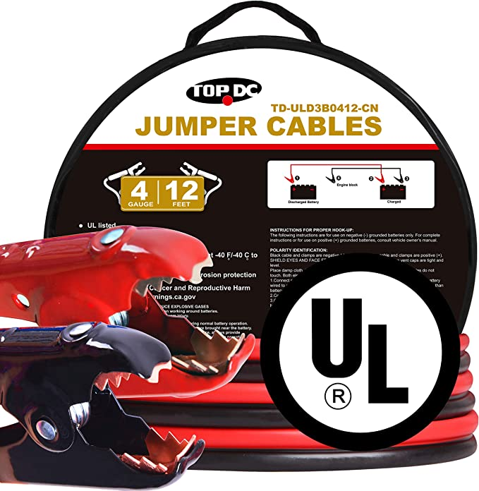 Krieger Jumper Cables for Car Battery 1000A Custom-Made Alligator ...