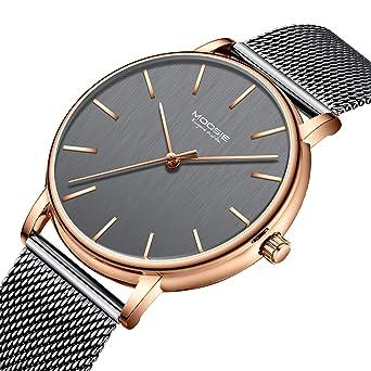 f5e5369cb7 腕時計、メンズ腕時計 シンプル ビジネス ファッション 超薄型 軽量 グレー ローズゴールド 防水 ミラノ