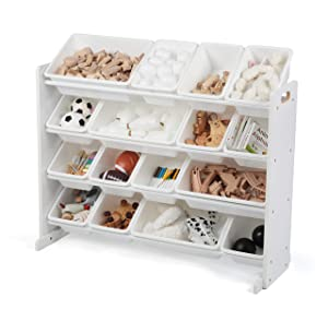 Stores Tot Tutors, Inc. WO135 Tot Tutors Extra-Large, Supersized Toy Storage Organizer (White, Cambridge Collection),
