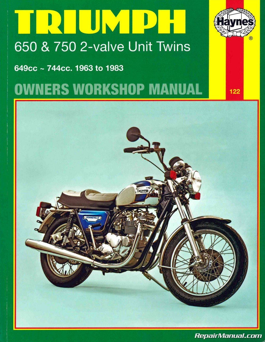 H122 Triumph Bonneville Trophy Tiger 1963-1983 Motorcycle Owners Workshop  Manual: Manufacturer: Amazon.com: Books