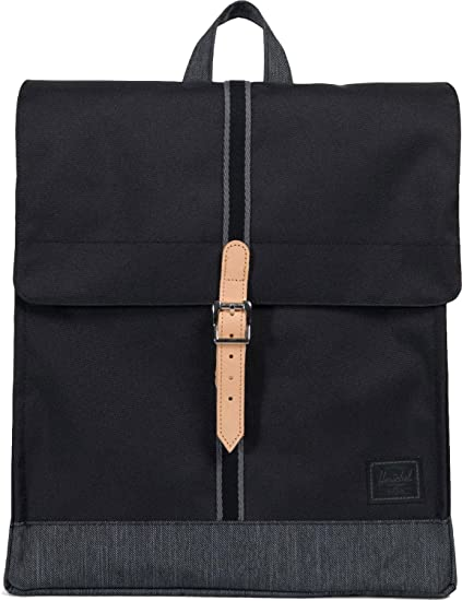 Mochila Herschel City Mid-Volume Black/Black Denim - Offset: Amazon.es: Ropa y accesorios