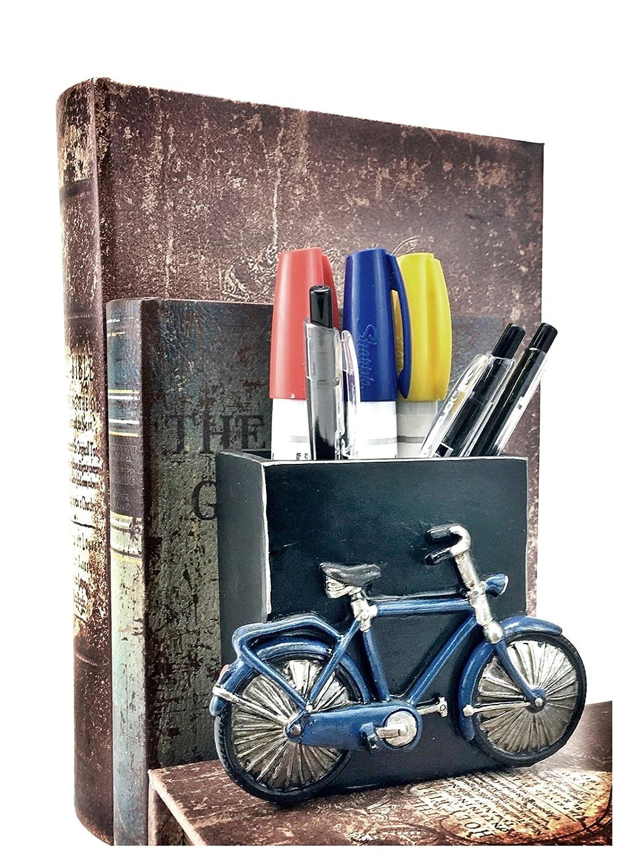 Bellaa 21420 Bicycle Pencils Holder Office Desk Pen Organizer Bookshelf Decor NA