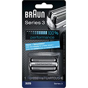 Braun Series 3 32S Foil & Cutter Replacement Head, Compatible with Models 3000s, 3010s, 3040s, 3050cc, 3070cc, 3080s, 3090cc