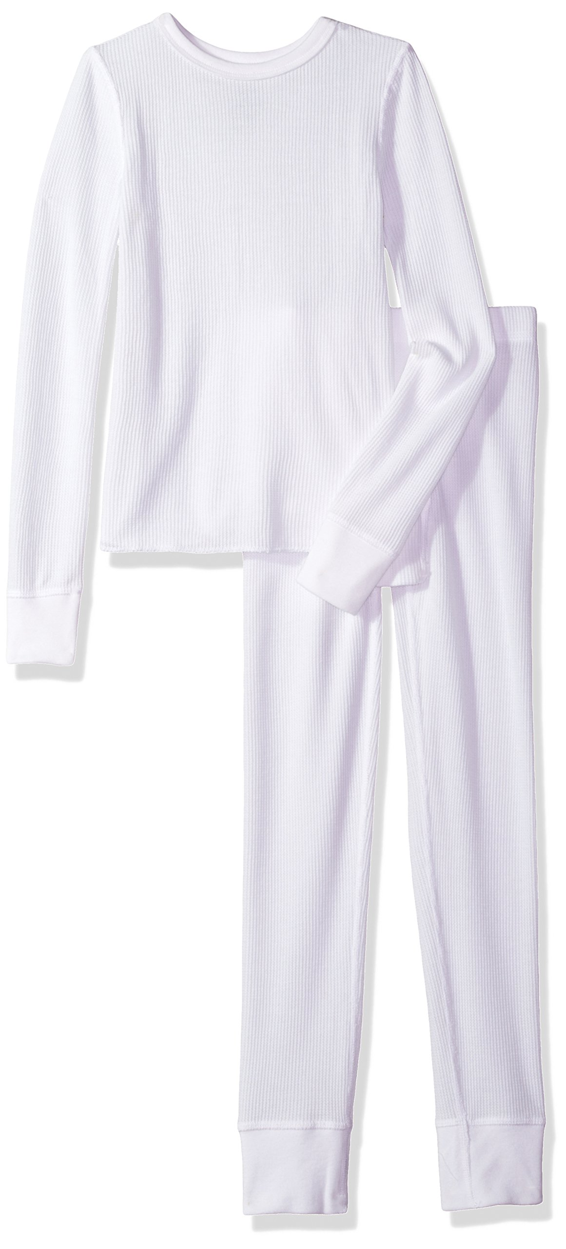 Fruit of the Loom Big Boys' Waffle Thermal Underwear Set, Arctic White, 14/16