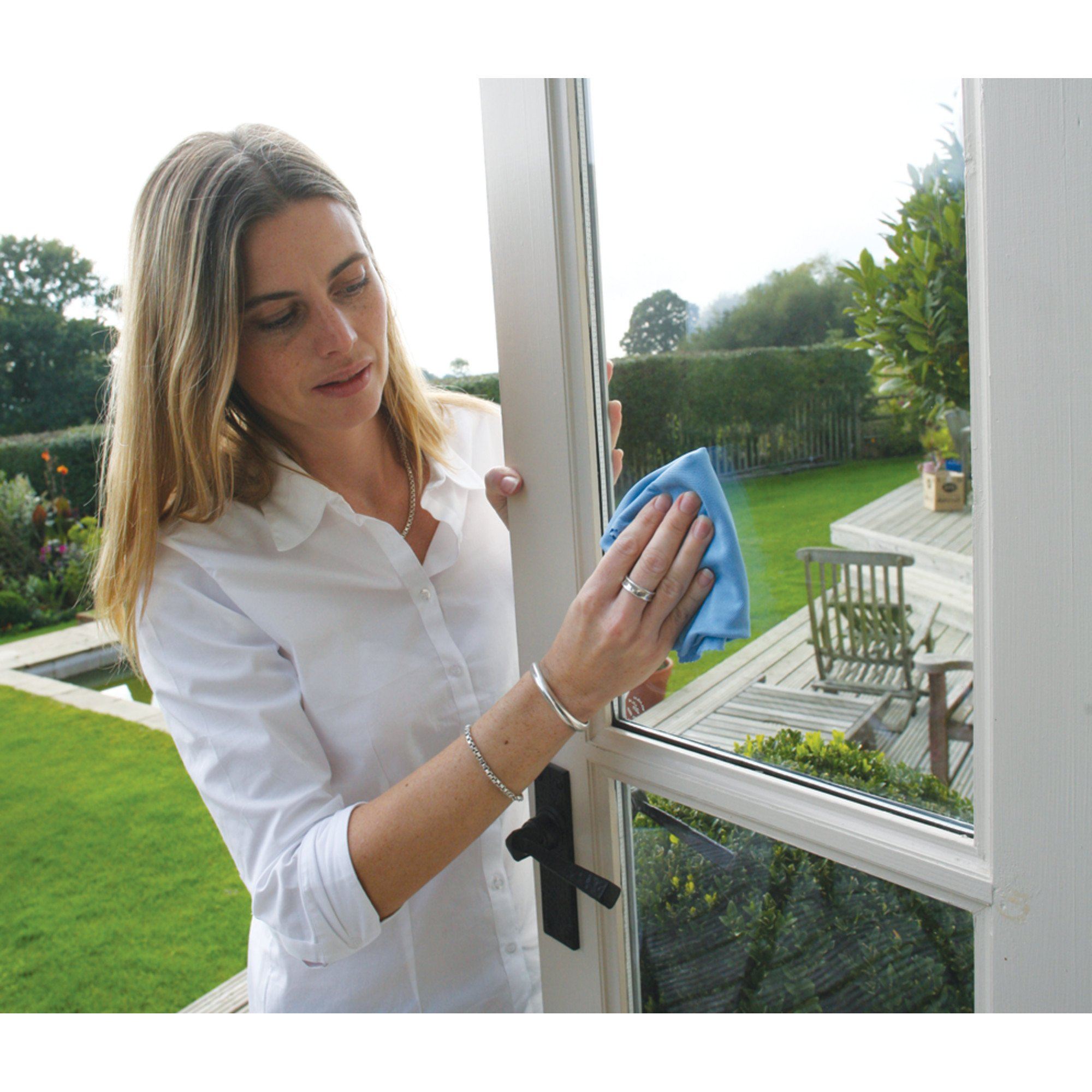 Glass & Polishing Cloth - Brilliant for Sparkling Windows, Mirrors, Glassware, Chrome, and More by E-Cloth (Image #24)