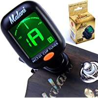 Deluxe Clip On Digital Tuner for Quick, Easy and Accurate Instrument Tuning - works with Ukulele, Guitar, Bass, Violin, Mandolin, Banjo