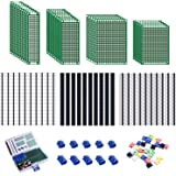 Smraza 100pcs Double Sided PCB Board Kit, Prototype Boards for DIY Soldering and Electronic Project Circuit Boards Compatible
