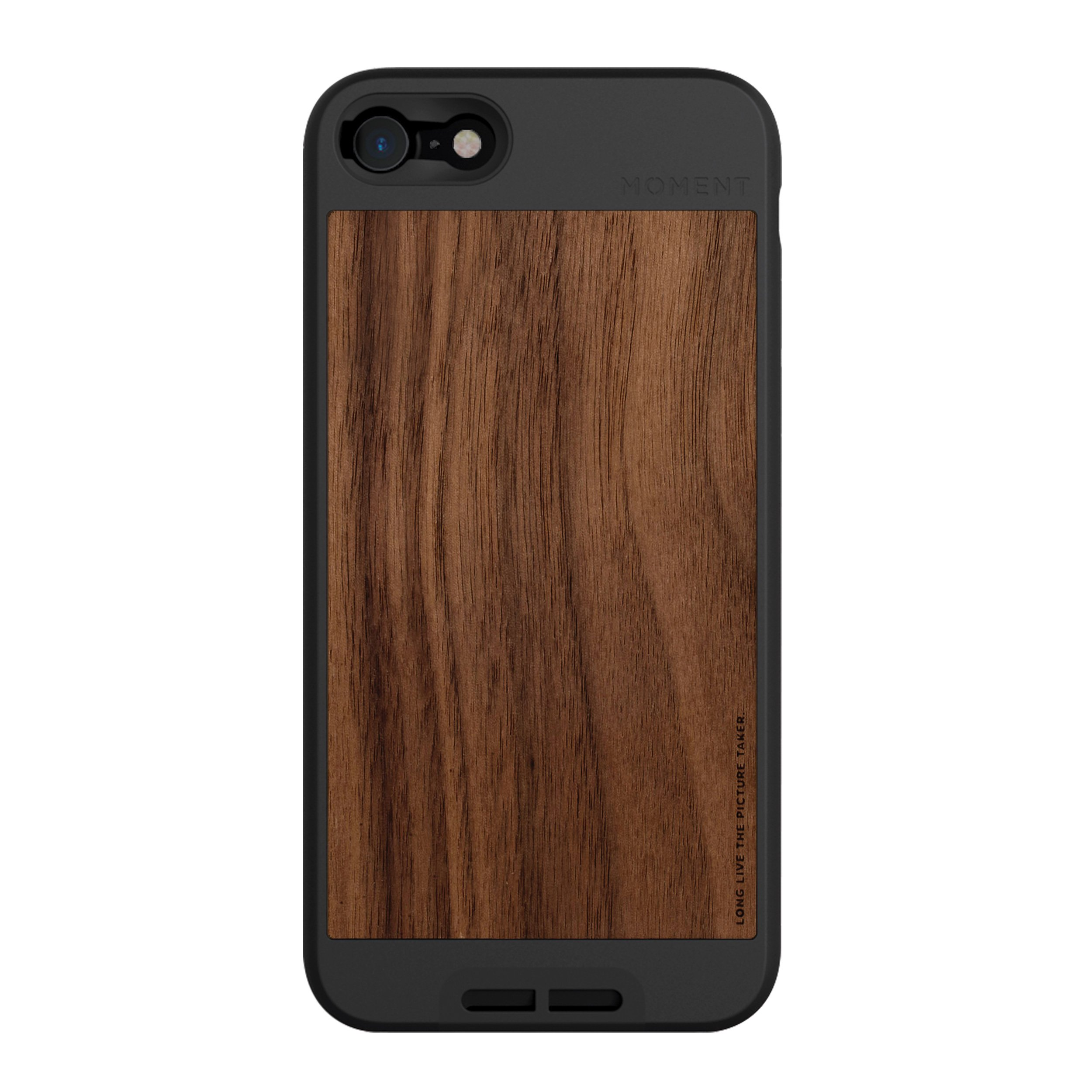 iPhone 7 / iPhone 8 Case || Moment Photo Case in Walnut Wood - Thin, Protective, Wrist Strap Friendly case for Camera Lovers.