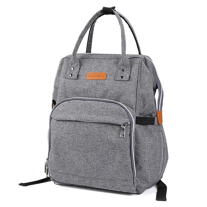 Bebé pañales bolso cambiador aonokoy Post maternidad para pañales organizador multifunción mochila de viaje - gran capacidad bolsas de pañales con correa de ...