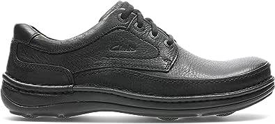 حذاء جلدي بابزيم للرجال من كلاركس، مقاس 6.5 UK, (اسود), 6.5 UK