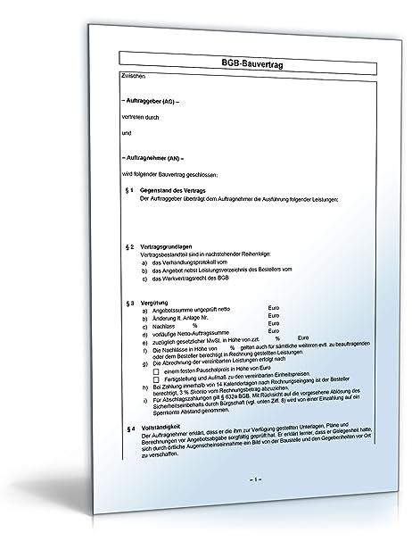 Bgb Bauvertrag Word Dokument Amazonde Software