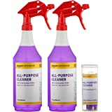 AmazonCommercial Dissolvable All-Purpose Cleaner Kit with 2 Sprayer Bottles and 12 Refill Pacs