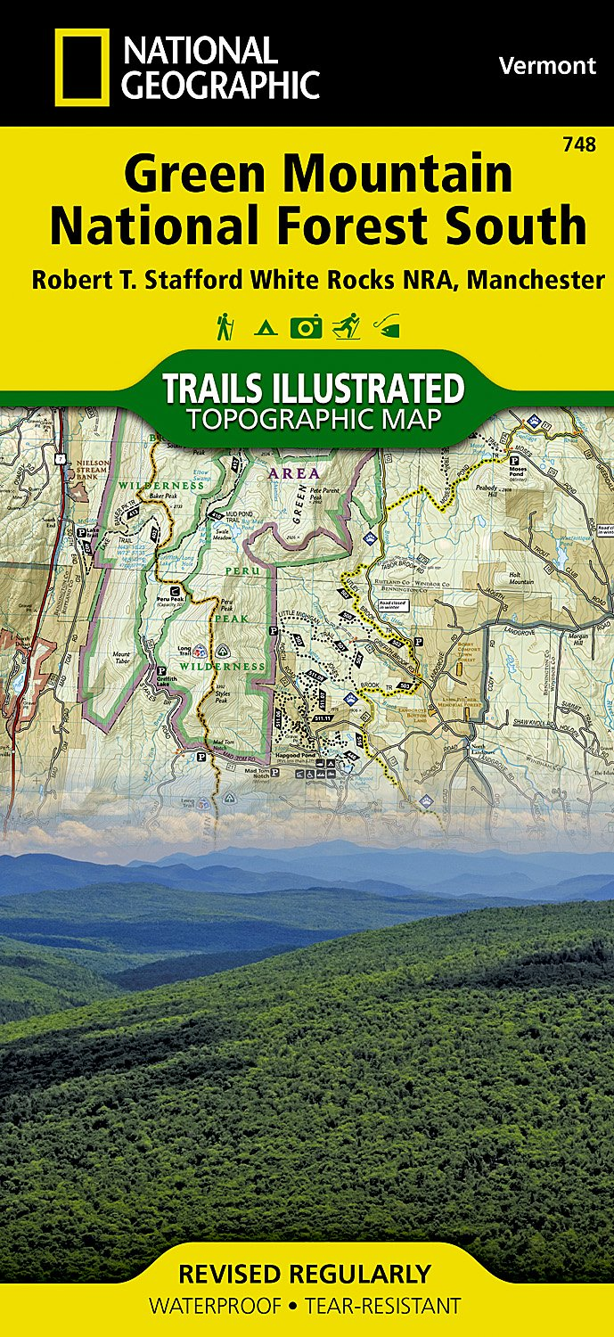 Green Mountain National Forest South [robert T. Stafford White Rocks National Recreation Area, Manchester] (National Geographic Trails Illustrated Map, Band 748)