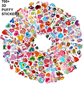 Howaf Pegatinas Pack para Infantiles, 700+ 48 Hojas Diferentes 3D ...