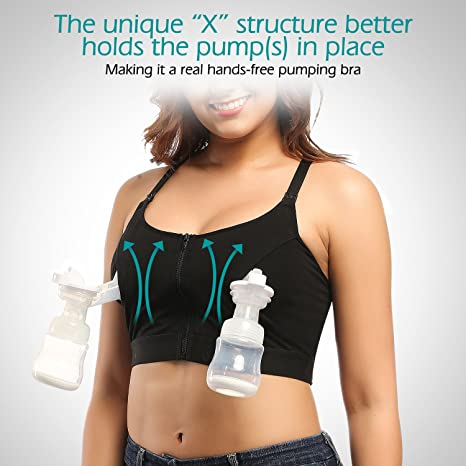 15e220d4db Amazon.com  Momcozy Hands-Free Pumping and Nursing Bra for Breast Pumps (M