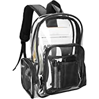 Procase Clear Backpack for Women Girl, Waterproof Transparent Plastic Bag Festival Bag, for Concert Conventions Beach…
